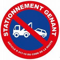 panneau interdiction de stationner panneau stationnement