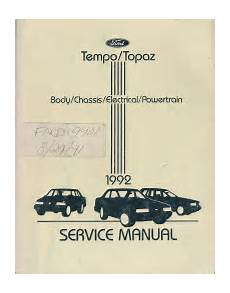 online car repair manuals free 1992 ford club wagon seat position control 1992 ford tempo mercury topaz body chassis electrical powertrain shop manual