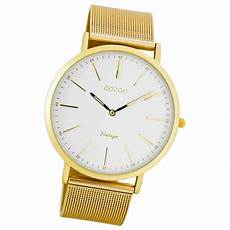 herren gold uhr oozoo damen herren uhr ultra slim quarzuhr metall armband