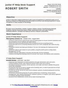 it help desk support resume sles qwikresume