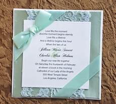 beautiful mint green wedding invitation unique wedding