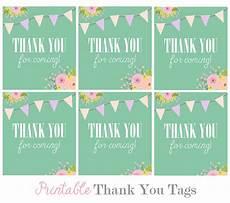 thank you for coming tags printable printable 360 degree