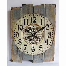 clocks home decor retro antique silent no ticking wood wall clock shabby