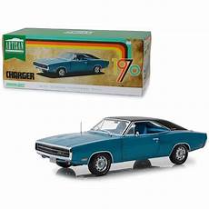 1970 dodge charger 500 blue with black top 1 18 diecast
