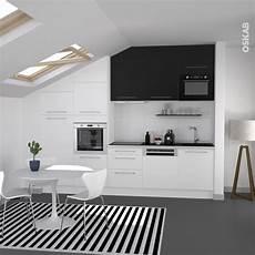 cuisine blanc et noir 85055 cuisine blanche porte effet soft touch ginko blanc mat aire 1 black kitchens kitchen