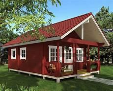 das ferienhaus canada sieht in dem klassischen schwedenrot