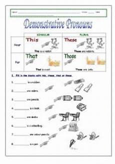 demonstrative pronouns worksheets