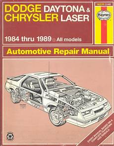hayes car manuals 1990 plymouth laser on board diagnostic system buy dodge daytona chrysler laser 1984 1989 all models automotive repair manual motorcycle in