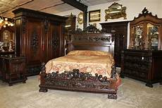 antique carved italian walnut 1800 s five piece queen bed