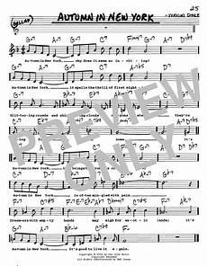 autumn in new york sheet music autumn in new york sheet music vernon duke real book melody lyrics chords c instruments