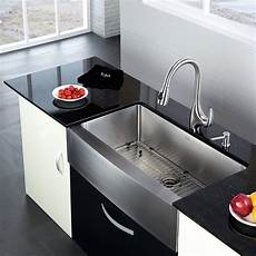 kraus 35 88 quot 20 75 quot farmhouse kitchen sink reviews wayfair