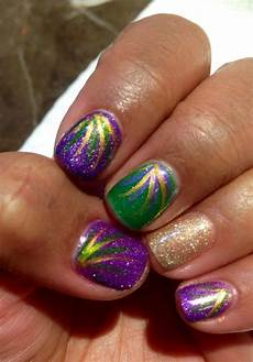 6 several looks 31 fantastic mardi gras nail art ideas