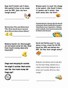 money problem worksheets for 2nd grade 2430 money word problems grade 2 by ms reis teachers pay teachers