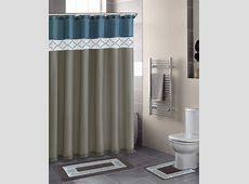 Home Dynamix Designer Bath Shower Curtain and Bath Rug Set