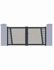 portail aluminium battant 3m50 portail aluminium quot perigueux quot design contemporain sur