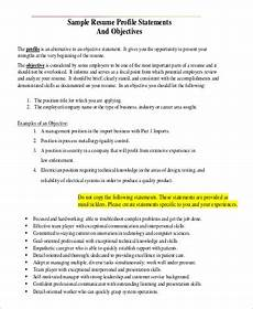 9 resume objective statement sles exles templates
