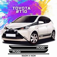 details about fits toyota aygo side racing stripes decal graphics tuning car size 154 14cm