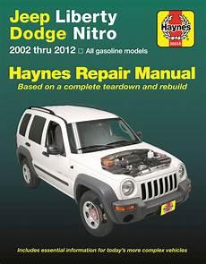 vehicle repair manual 2011 dodge nitro head up display haynes jeep liberty dodge nitro 2002 2012 auto repair manual
