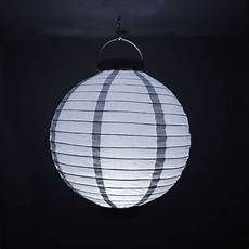 10 Quot Silver 16 Led Battery Operated Paper Lantern