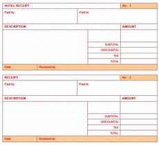 5 free hotel receipt templates in ms word templates