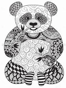 Malvorlagen Unicorn Panda Panda Animal Coloring Pages For Adults Tripafethna