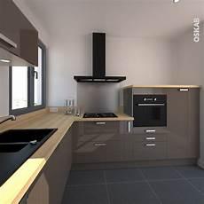 plan de travail en l cuisine et ergonomique en l couleur taupe et