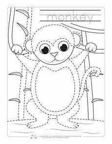 rainforest animals coloring pages preschool 17131 safari and jungle animals tracing worksheets zoo activities preschool monkey crafts monkey