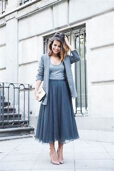tenue mariage hiver tulle skirt in grey mode jupe tulle tenue mariage