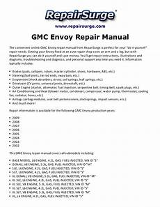 online car repair manuals free 2004 gmc envoy xl electronic throttle control gmc envoy repair manual 2002 2009
