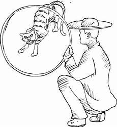Ausmalbilder Zirkus Tiger Kolorowanka Tygrys W Cyrku Kolorowanki Dla Dzieci Do Druku
