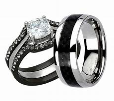 his hers wedding ring engagement wedding ring sets black wedding ring sets black