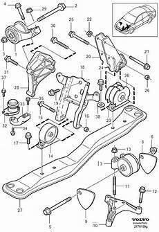 1992 volvo s40 engine diagram 9146053 engine bracket engine mountings ch 414999 1999 genuine volvo part