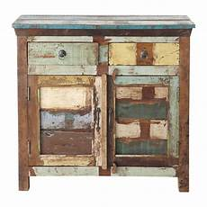credenza maison du monde recycled wood sideboard multicoloured w 90cm calanque