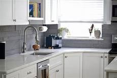 Large Tile Kitchen Backsplash Large Format Tile In Small Spaces
