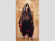 antique Afghanistan nuristan Woman embroidered weding
