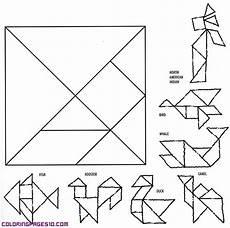 Tangram Kinder Malvorlagen Jogja Tangram Puzzle Coloring Pages