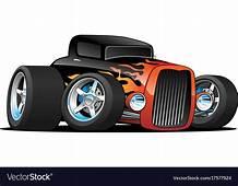 Hot Rod Classic Coupe Custom Car Cartoon Vector Image