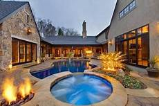 u shaped house plans with pool in middle u shaped house plans with pool in middle google search