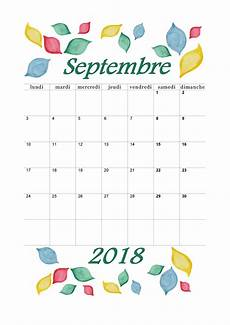 Calendrier Septembre 2018 224 Imprimer Calendriers