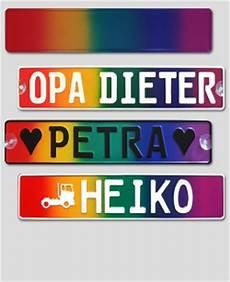 individuelles kennzeichen im design regenbogen quer f 252 r