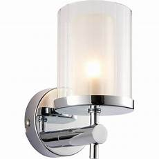 endon 51885 britton 1 light bathroom polished chrome wall light