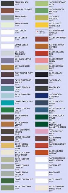 valspar enamel spray paint color chart paint color chart