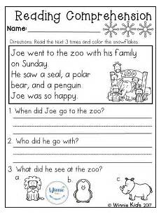 writing worksheets for grade 1 22834 kindergarten reading comprehension passages winter with images reading comprehension