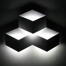 3 heads 9w magic led wall light aluminum stereo rhombus ice cube 3d wall l geometry square