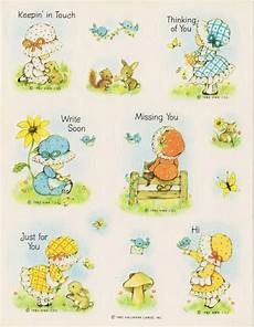 vintage rare bonnet children sticker sheet by hallmark sticker sheets sticker collection