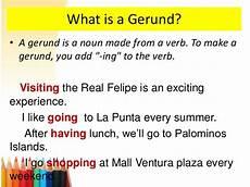 gerunds ing form gerunds ing form