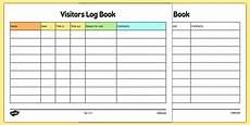 childminder visitors log book teacher made