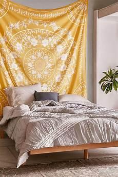 sketched floral medallion tapestry bedroom tapestry