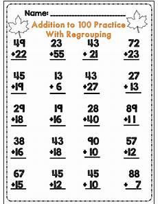 free addition worksheets with regrouping for second grade 9730 48 best 2 digit practice images on second grade grade 2 and math activities
