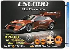 Suzuki Escudo Pikes Peak Specs by Gran Turismo 3 A Spec Ps2 Walkthrough And Guide Page